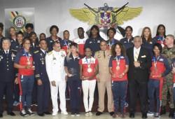 MIDE reconoce a miembros de las Fuerzas Armadas por su gran labor y desempeño en la Institución y a los atletas militares